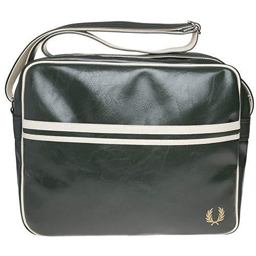 Fred Perry Mens Classic Shoulder Bag - Deep Forest Green/Ecru Cream