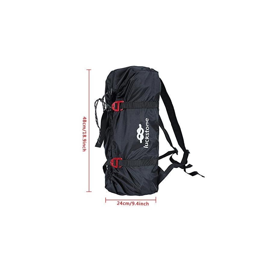 Uboway Rock Climbing Rope Bag Mountaineering Shoulder Backpack for Climbing, Hiking, Trekking