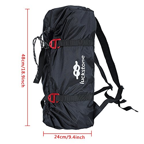 Uboway Rock Climbing Rope Bag Mountaineering Shoulder Backpack for Climbing, Hiking, Trekking