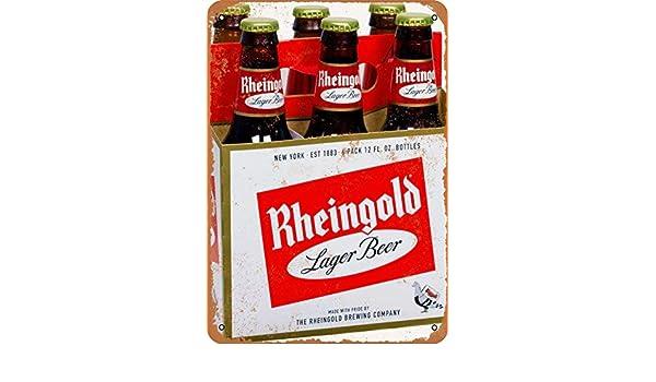Rheingold Beer Vintage Look Reproduction Metal Sign