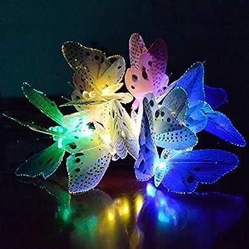 Buy Solar Powered Butterfly Lights, 16ft 20LED Solar String ...
