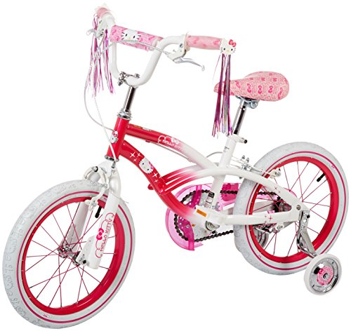 "Dynacraft Hello Kitty Girls BMX Street Bike 16"", Pink/White/Pink"