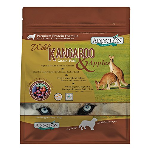 Addiction'S Wild Kangaroo & Apple Dog 4 Pound Bag (Best Cat Food Australia)