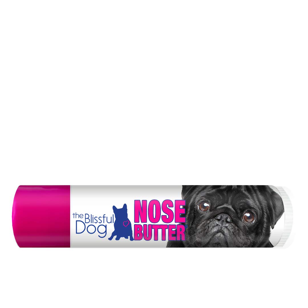 0.15-Ounce The Blissful Dog Black Pug Unscented Nose Butter, 0.15-Ounce