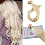 Bleaching Hair After Dying It Red - Moresoo 24 Inch Keratin Hair Extensions Human Hair Color 613 Bleach Blonde Remy U-tip Nail Tip Natural Hair Extensions Pre Bonded Hair Extensions 1g/1s 50G