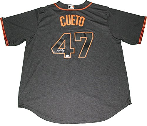 Johnny Cueto Autographed Majestic San Francisco Black Replica Away Jersey MLB Auth - Authentic Signature