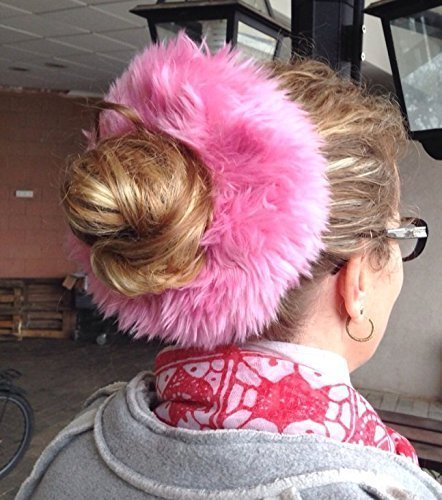 Pink Fur Scrunchie Fuzzy Hair Tie Clueless 90s Large Kawaii Ponytail Holder  Pink Fur Hair Band a112ee48ad3