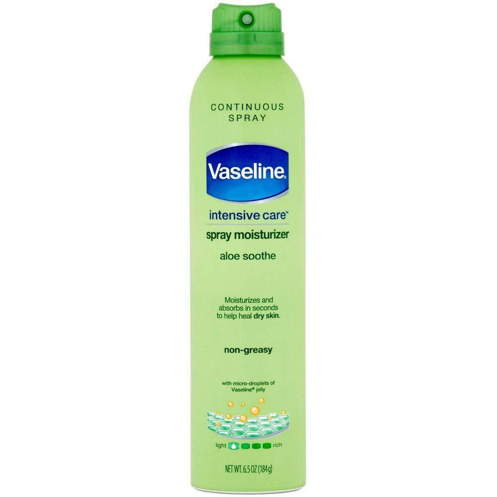 Vaseline Spray & Go Moisturizer, Aloe Fresh, 6.5 oz ( Pack of 6) by VASELINE