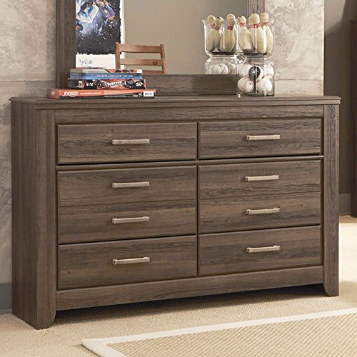 Ashley Furniture Signature Design - Juararo Dresser - 6 Drawers - Casual Styling for Kids Room - Dark Brown by Signature Design by Ashley