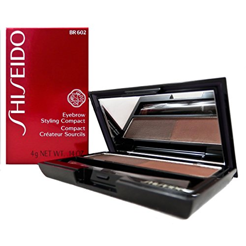 Shiseido Eyebrow Styling Compact for Women, No. BR602 Medium Brown, 0.14 oz