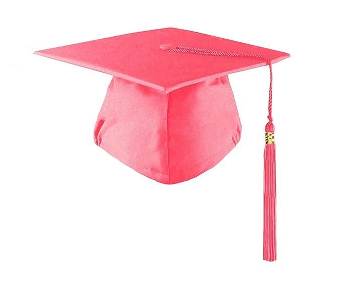 HEPNA Preschool Kindergarten Matte Graduation Cap with Tassel,No Year Charm