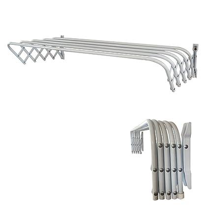 Bon Abba Patio 32u0026quot; Towel Bar Bathroom Retractable Wall Mount Towel Rack  Powder Coated Steel,