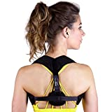 Posture Corrector for Men & Women – Adjustable Correcting Shoulder Posture Brace – Clavicle Posture Brace for Shoulder Alignment – Invisible Thoracic Back Brace for Hunching & Slouching