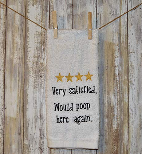 Towel Outhouses Hand - Machine Embroidered Decorative Bathroom Hand Towel