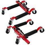 XtremepowerUS Truck Car Wheel Moving Dolly Hydraulic Auto Tire Lift 1 Pair