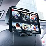Car Tablet Headrest Mount, Lamicall Tablet Holder : Universal Cradle Stand Bracket Compatible with New iPad 2018 Pro 9.7, 10.5, Air Mini 2 3 4, Samsung Tab, Kindle Fire, Other 4.7~13 inch - Black
