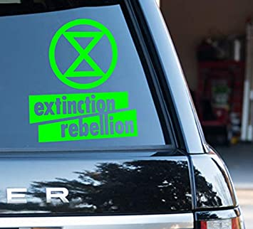 Watershed Green Vinyl.Watershed Designs Extinction Rebellion Decal Signage Green