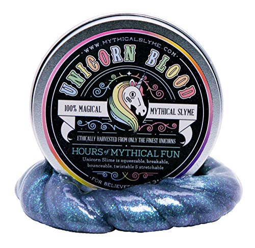 Mythical Slyme Unicorn Putty - Unicorn Presents and Gag Idea - Magical Glitter Slime and Glitter Putty - Toy Putty (Blood)