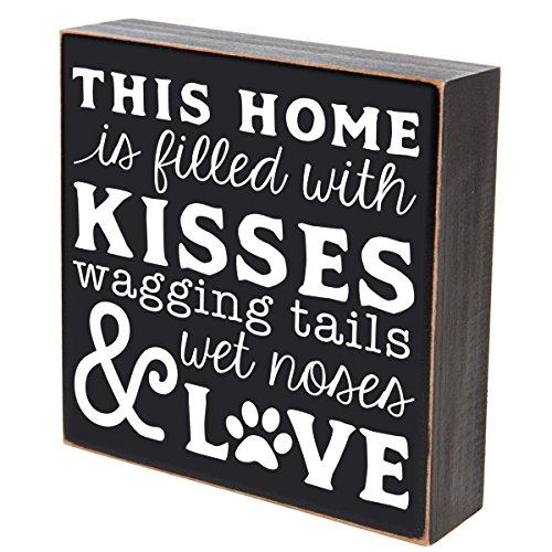 LifeSong Milestones This Home is Filled with Kissed waggin Tails Pets Gifts for Dog cat Pet Lover Gift Box Birthday Gifts for Pets 6x6 (This Home is Filled with Kisses) ()