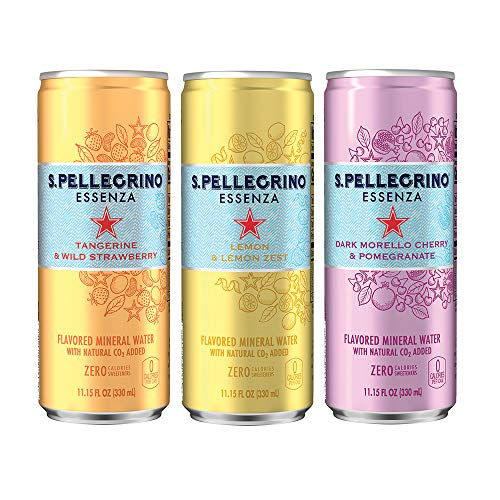 S.Pellegrino Essenza Flavored Mineral Water, 11.15 fl oz. Cans (Variety Pack of 12) ()