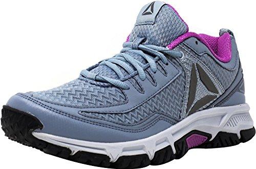 Reebok Women's Ridgerider Trail 2.0 Track Shoe, Meteor Grey/Asteroid Dust/Cloud Grey/Violet/Pewter/Silver, 7 M US