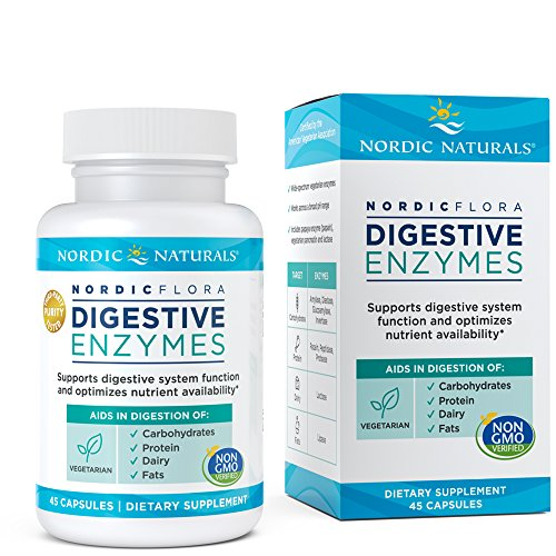 Flora Digestive Enzymes - Nordic Naturals Nordic Flora Digestive Enzymes - Wide-Spectrum Formula for Digestive System Function and Optimal Nutrient Availability, Non-GMO and Certified Vegetarian, 45 Capsules