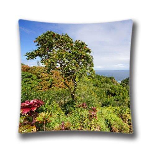 HKDFH Pilllowcases Pillow Cover 18 x 18 Themed Pillow Sham Zippered Garden Of Eden Arboretum Maui Hawaii Pillowcase -2016 Black Friday Deals pillow case cove king queen - Friday Black Deals Maui