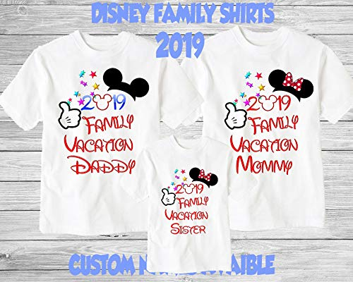 bdbcf044a Amazon.com: Disney Family Shirts Disney Shirts,Disney Family Shirts,  Mickey, Minnie,Custom T-shirt,Personalized Disney Shirts for Family Shirts  Matching: ...
