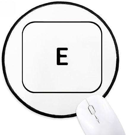 DIYthinker Teclado símbolo E Ronda antideslizante tapetes de ...