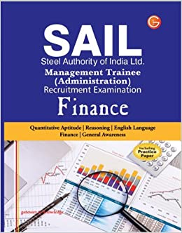 SAIL Steel Authority of India Limited Management Trainee Administration Recruitment Examination: Finance (Including Practice Paper) price comparison at Flipkart, Amazon, Crossword, Uread, Bookadda, Landmark, Homeshop18