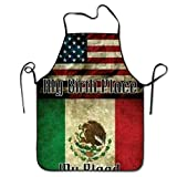 Good American-Mexican Flag Overhand Apron Bacon Chef Apron Tailgate Grilling Intended For Adult One Size Drill