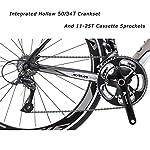 SAVADECK-Warwind30-Bici-da-Strada-in-Carbonio-700C-Bicicletta-con-Telaio-TORAY-T800-in-Fibra-di-Carbonio-e-Cambio-Shimano-Sora-R3000-18-velocita
