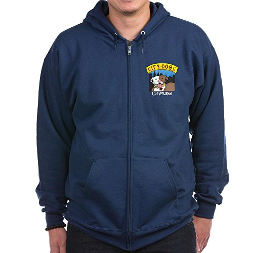 CafePress - City Dogs Cleveland - Zip Hoodie, Classic Hooded Sweatshirt with Metal (Insulated Dog Kennel Jacket)