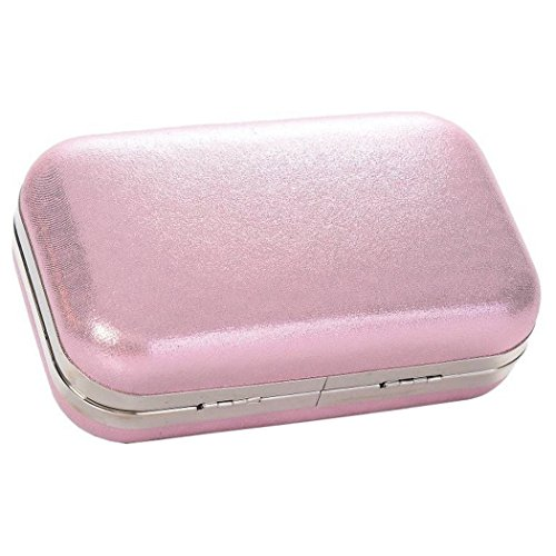 Chain Plain Clutch Shiny Evening With A Large Pink Clasp Crystal Box Long And Bag 7Uwqwxfd1Z