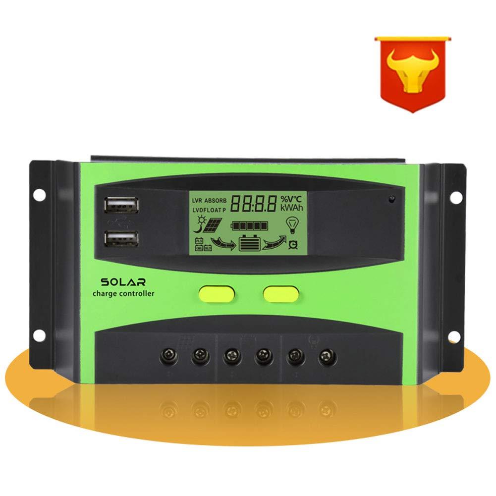 DishyKooker LCD Display Solar Regulator Smart Solar Charge Controller for Street Road Lighting