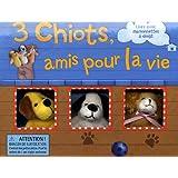 3 chiots, amis pour la vie : Livre avec marionnettes à doigt