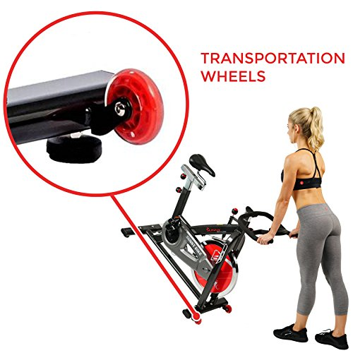 Sunny Health & Fitness Belt Drive Indoor Cycling Bike, Grey by Sunny Health & Fitness (Image #7)