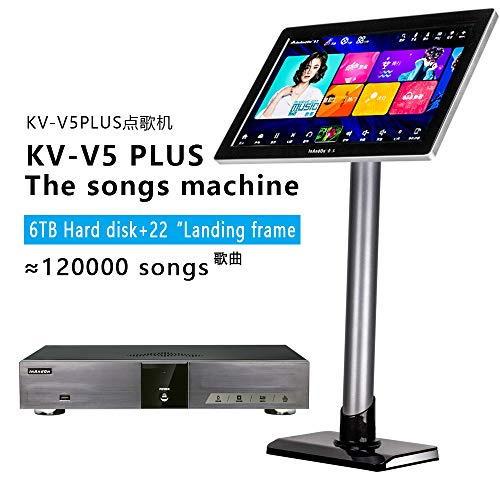 InAndOn KV-V5 PLUS Intelligent voice keying machine online movie dual system coexistence real-time score (Black single host + 22 inch touch screen, 6TB(12,0000 Songs)) ()