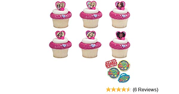 CUPCAKE RINGS BARBIE DOLL 12 Pieces