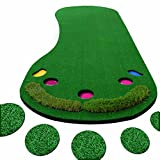 FUNGREEN Golf Putting Green & Indoor Mat 1M X 3M Premium Backing, No Creases, Deeper Holes, Thicker & Wider Surface - Great for Home or Office.