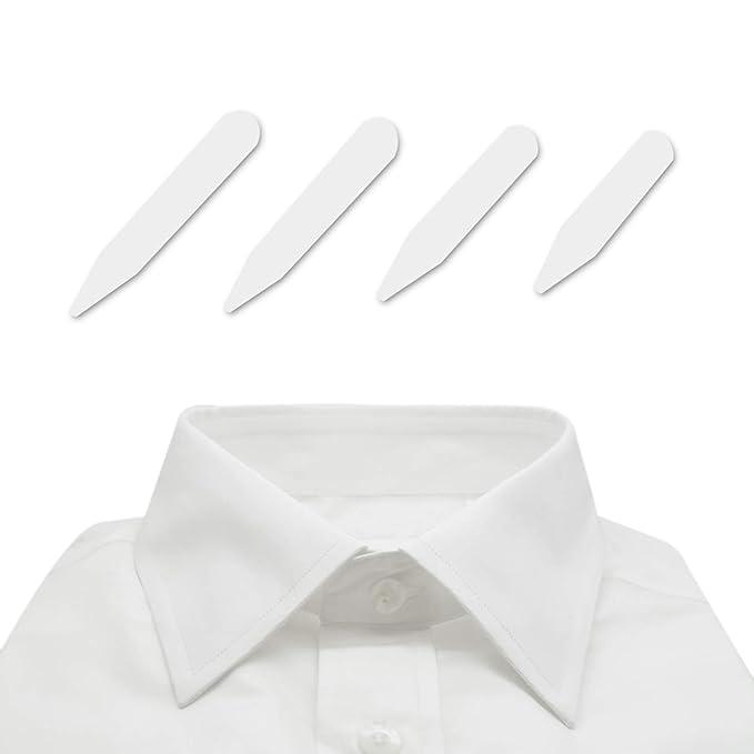 Amazon.com: 40 de plástico para cuello de camisa, 4 Tamaños ...