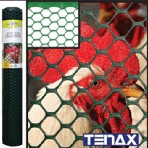 Netting Fencing - Tenax 72120942 Plastic Poultry Fence, Green