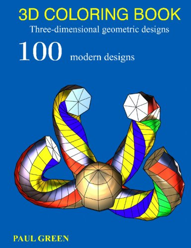 3D COLORING BOOK  Three Dimensional Geometric Designs
