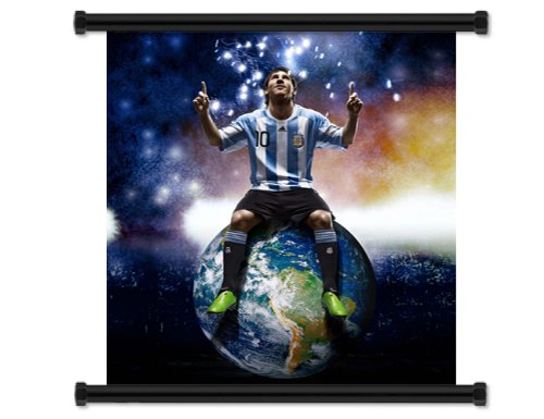 Lionel Messi Soccer Futbol Star Fabric Wall Scroll Poster (32