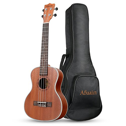 Afuaim Ukulele Soprano 21 Inch Matte Sapele Uke with Gig Bag By Afuaim (AUS-21M) price tips cheap