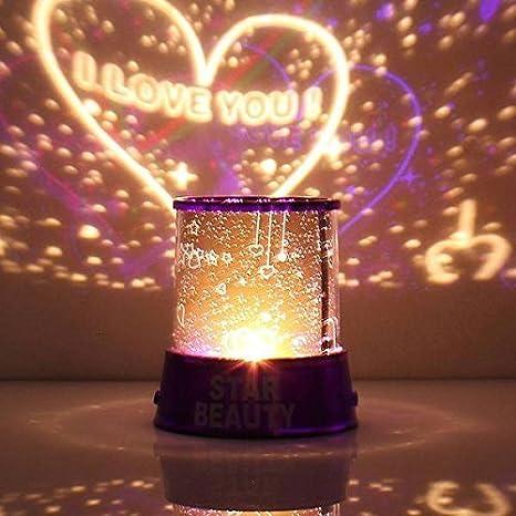 Pink avec c/âble USB Aeeque Romantique Lampe LED Master ciel /étoile /Étoil/ées mini /étoiles Projecteur Enfants Lampe de Chevet Maison de Chambre D/écoration