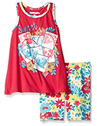 """Kidtopia Little Girls' """"Sweetheart Pets"""" 2-Piece Outfit"""