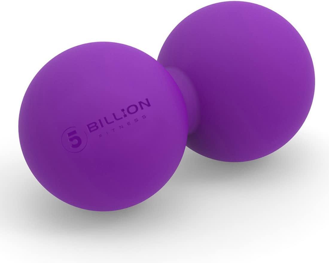 5BILLION Peanut Massage Ball - Double Lacrosse Massage Ball & Mobility Ball for Physical Therapy - Deep Tissue Massage Tool for Myofascial Release, Muscle Relaxer, Acupoint Massage (Purple): Sports & Outdoors