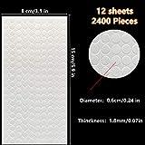 12 Sheets 2400 Pieces Foam Dots Dual-Adhesive 3D