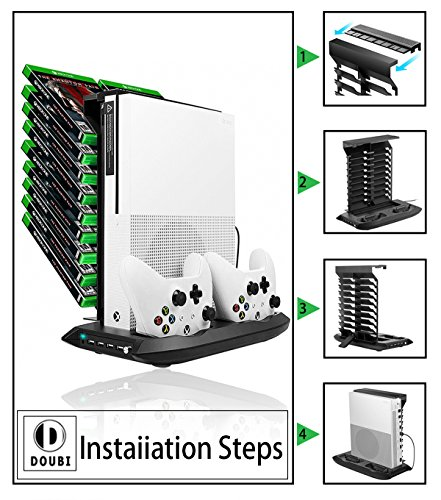 Xbox one s vertical stand cooling fan controller charging station xbox one s vertical stand cooling fan controller ccuart Gallery